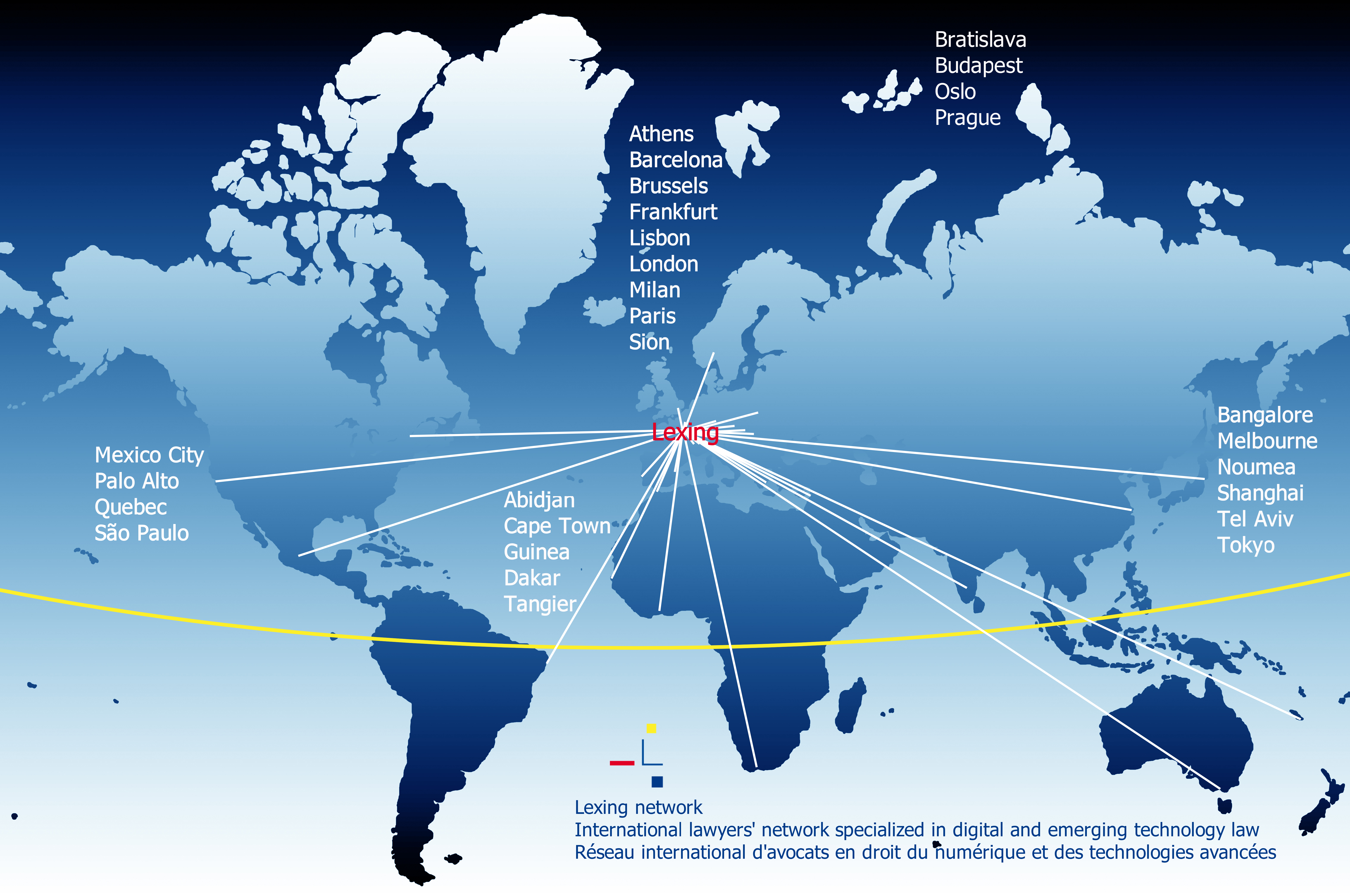 Lexing® network map